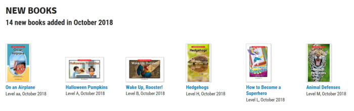 Raz-kids 10月新刊