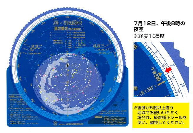星空観察ー星座早見盤