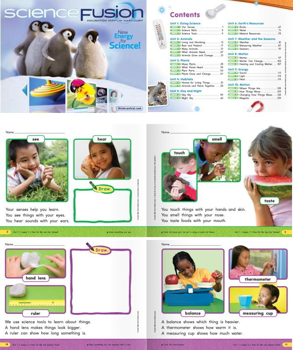 アメリカの幼稚園理科教科書
