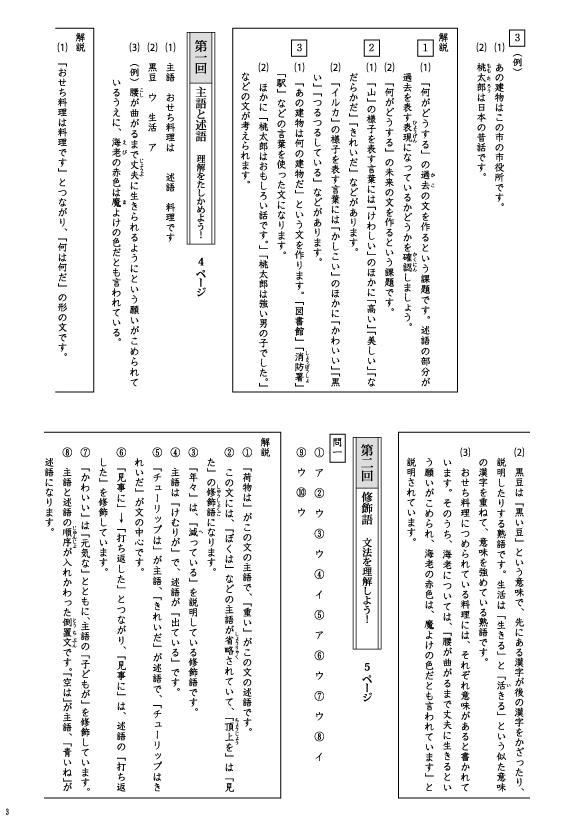 成長する思考力GTシリーズ国語 文法力特化